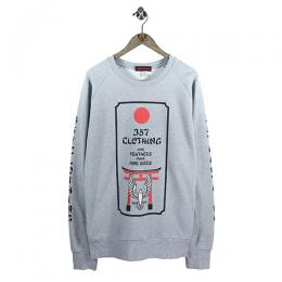 "357CLG ""Torii Bird"" Raglan Sweat (Light Heather)"