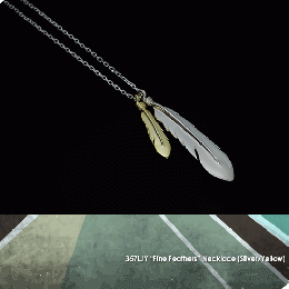 "357LJY ""Fine Feathers"" Necklace (Silver/Yellow)"