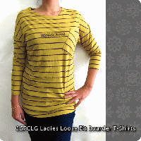 357CLG Ladies Loose Fit Boarder T-Shirts