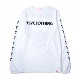 "357CLG Flocky ""HJS"" Long Sleeve T-Shirts (White)"