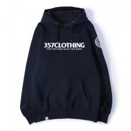 "357CLG Bubble Up ""CF Circle"" Unisex Pullover Hoodie (Black)"