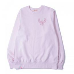 "357CLG Embroidery ""HJS"" Classic Unisex Sweat (Light Pink)"
