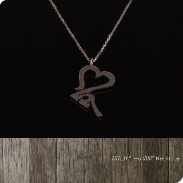 "357LJY ""Heart357"" Necklace (K10PG)"