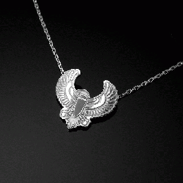 "Silver 925      357LJY ""HJS"" Necklace (Silver)"